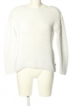 s.Oliver Grobstrickpullover weiß Casual-Look