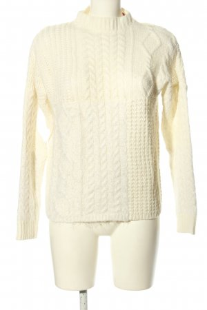 s.Oliver Coarse Knitted Sweater natural white casual look