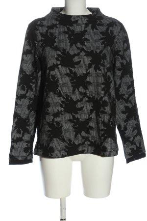s.Oliver Grobstrickpullover schwarz Blumenmuster Casual-Look