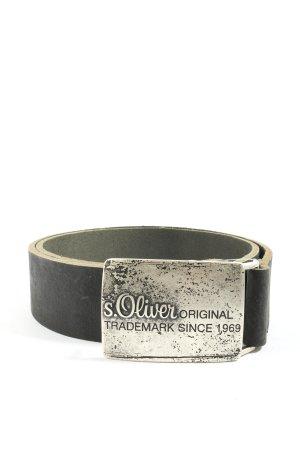 s.Oliver Boucle de ceinture noir style décontracté