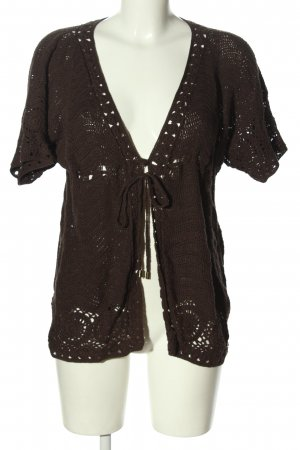 s.Oliver Crochet Cardigan brown casual look