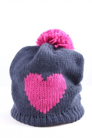 s.Oliver Crochet Cap blue-pink themed print casual look