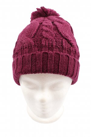 s.Oliver Crochet Cap pink cable stitch casual look