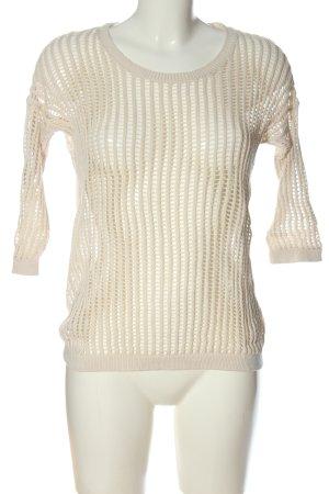 s.Oliver Szydełkowany sweter w kolorze białej wełny Wygląd w stylu miejskim