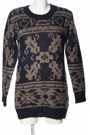 s.Oliver Crochet Sweater black-brown allover print casual look