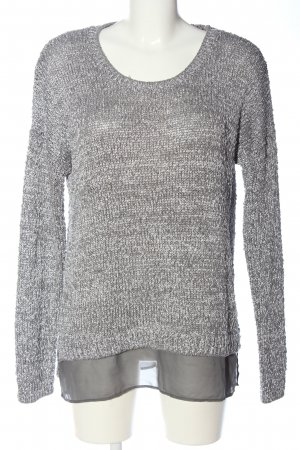 s.Oliver Crochet Sweater light grey casual look