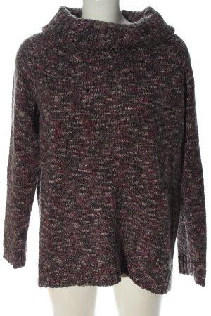 s.Oliver Pull en crochet gris clair-rose moucheté style décontracté