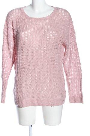 s.Oliver Jersey de ganchillo rosa look casual