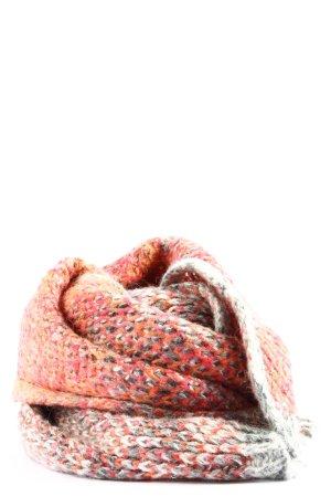 s.Oliver Szydełkowany szalik czerwony-biały Warkoczowy wzór W stylu casual