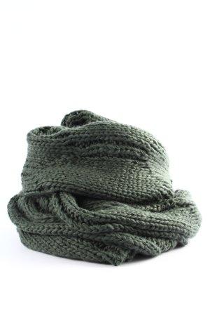 s.Oliver Écharpe en crochet gris clair torsades style décontracté