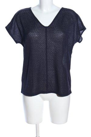 s.Oliver Szydełkowana koszulka niebieski Graficzny wzór W stylu casual