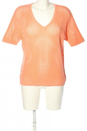 s.Oliver Crochet Shirt pink weave pattern casual look