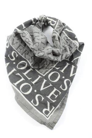 s.Oliver Foulard blanc-noir imprimé avec thème style décontracté