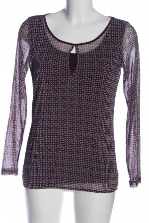 s.Oliver Hemd-Bluse lila-braun Allover-Druck Casual-Look