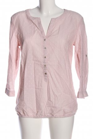 s.Oliver Hemd-Bluse pink-weiß Punktemuster Business-Look