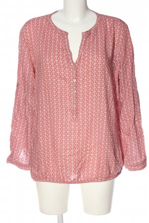 s.Oliver Hemd-Bluse rot-weiß grafisches Muster Casual-Look