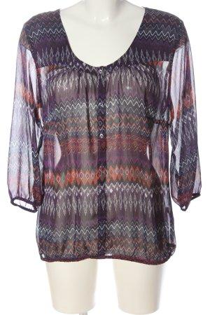s.Oliver Shirt Blouse lilac-light orange allover print elegant
