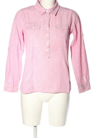 s.Oliver Camicia blusa rosa-bianco stampa integrale stile casual