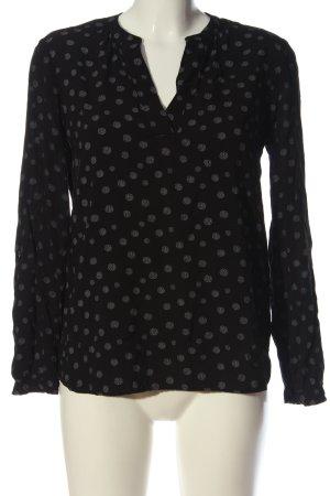 s.Oliver Hemd-Bluse schwarz-weiß abstraktes Muster Business-Look