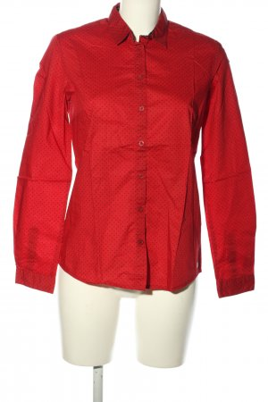 s.Oliver Hemd-Bluse rot-schwarz Punktemuster Casual-Look