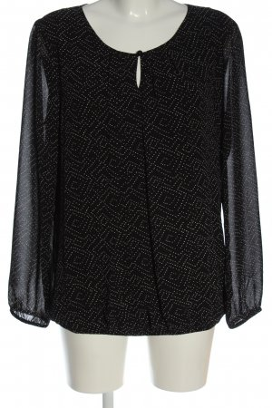 s.Oliver Shirt Blouse black-white allover print elegant