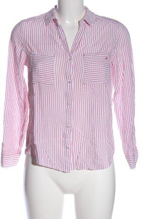 s.Oliver Hemd-Bluse pink-weiß Streifenmuster Casual-Look