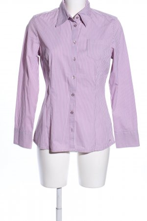 s.Oliver Hemd-Bluse lila-weiß Streifenmuster Business-Look