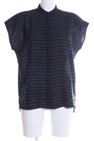 s.Oliver Hemd-Bluse blau-schwarz Streifenmuster Casual-Look