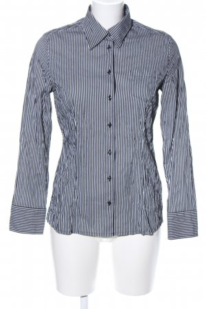 s.Oliver Hemd-Bluse schwarz-weiß Streifenmuster Business-Look
