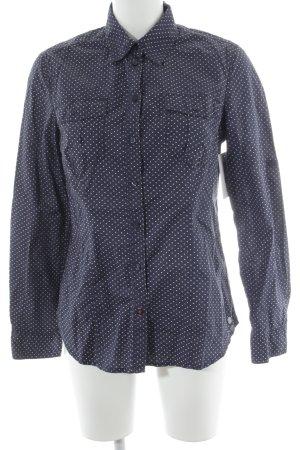 s.Oliver Hemd-Bluse dunkelblau-weiß Punktemuster Business-Look