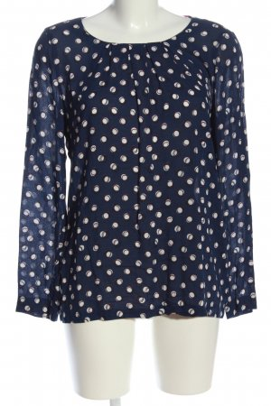 s.Oliver Hemd-Bluse blau-weiß Allover-Druck Casual-Look