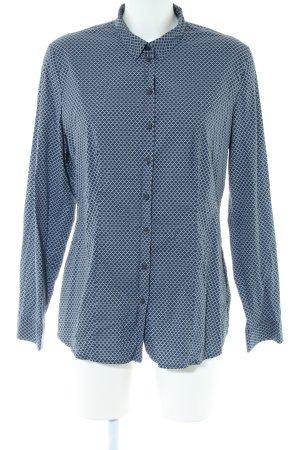 s.Oliver Hemd-Bluse blau abstraktes Muster Business-Look
