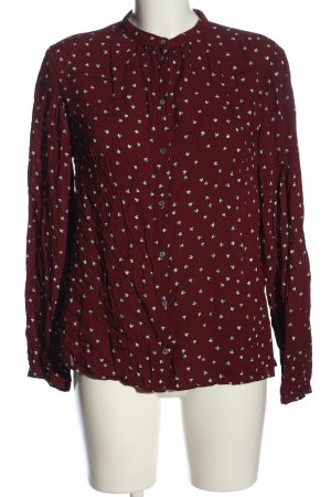 s.Oliver Hemd-Bluse rot-weiß Allover-Druck Casual-Look