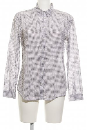 s.Oliver Hemd-Bluse weiß-braunrot abstraktes Muster Business-Look