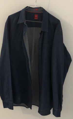 S.oliver Hemd XL blau jeansoptik