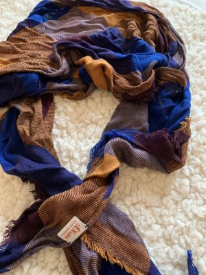 s.Oliver Knitted Scarf blue-brown