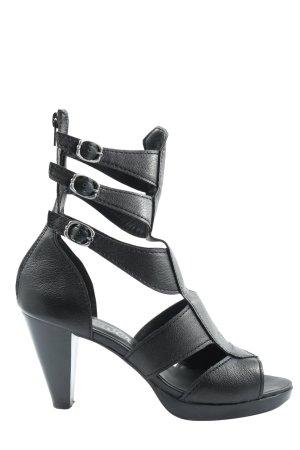 s.Oliver High Heel Sandaletten schwarz Casual-Look