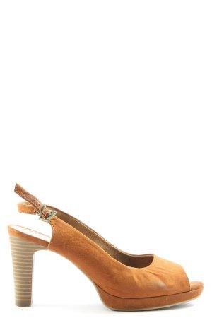 s.Oliver High Heel Sandaletten hellorange Casual-Look