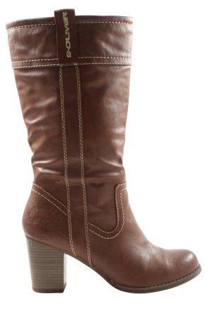 s.Oliver Wysokie buty na obcasie brązowy W stylu casual