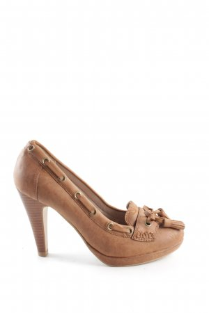 s.Oliver High Heels hellorange Business-Look
