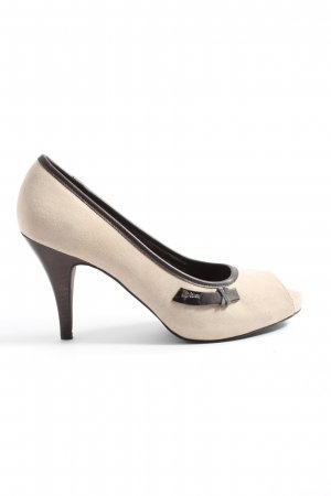 s.Oliver High Heels creme-braun Business-Look