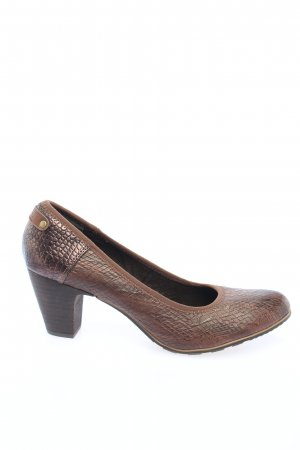 s.Oliver High Heels braun Animalmuster Casual-Look