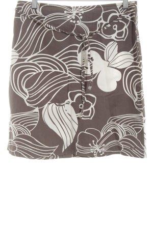 s.Oliver High Waist Rock bronzefarben-wollweiß Blumenmuster Casual-Look