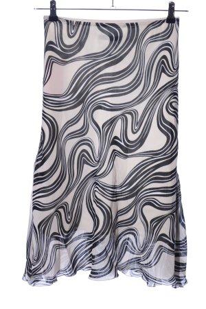 s.Oliver High Waist Rock wollweiß-schwarz abstraktes Muster Casual-Look