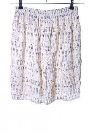 s.Oliver High Waist Rock wollweiß abstraktes Muster Casual-Look
