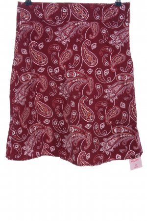 s.Oliver High Waist Rock pink-weiß abstraktes Muster Casual-Look