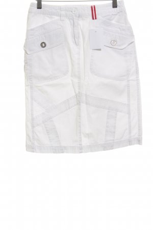 s.Oliver High Waist Rock weiß Karomuster Casual-Look