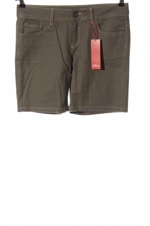 s.Oliver High-Waist-Shorts braun Casual-Look