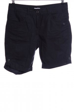 s.Oliver High-Waist-Shorts blau Casual-Look