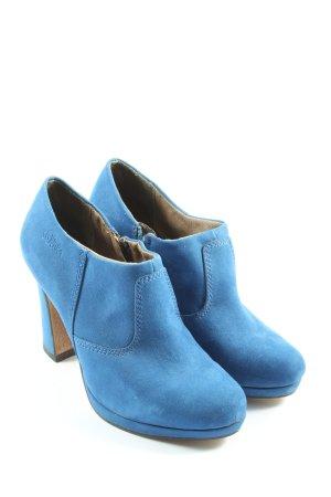 s.Oliver Chaussure à talons carrés bleu imprimé avec thème